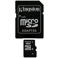 Kingston Micro SDHC 8GB Class 10 + SD adaptér