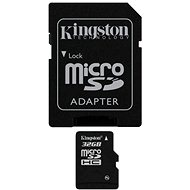 Kingston Micro SDHC 32GB Class 10 + SD adaptér