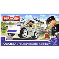 IGRÁČEK - Policista s policejním autem a doplňky