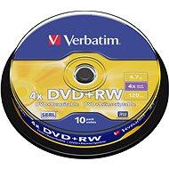 Verbatim DVD+RW 4x, 10ks cakebox