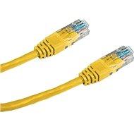 Datacom, CAT5E, UTP, 5m, žlutý