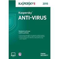Kaspersky Anti-Virus 2015 CZ - obnovení nebo konkurenční upgrade pro 1 PC na 24 měsíců